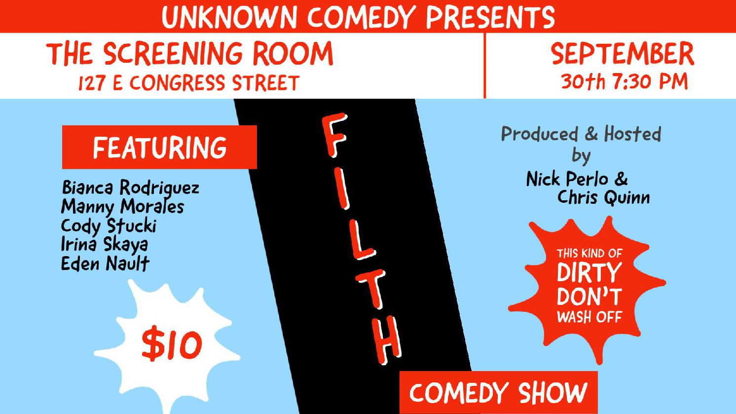 FILTH! A Comedy Show by Unknown Comedy