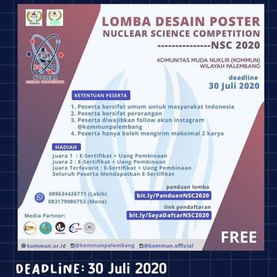 Lomba Desain Poster Nuclear Science Competition -NSC 2020