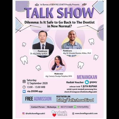 Talk Show - Delemma: Is It Safe to Go Back to The Dentist in New Normal