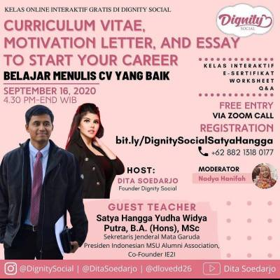 Curicullum Vitae, Motivation Letter, And Essay To Start Your Career : Belajar Menulis CV yang Baik