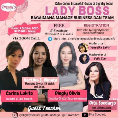 `Lady Boss` Bagaimana manage  business dan team