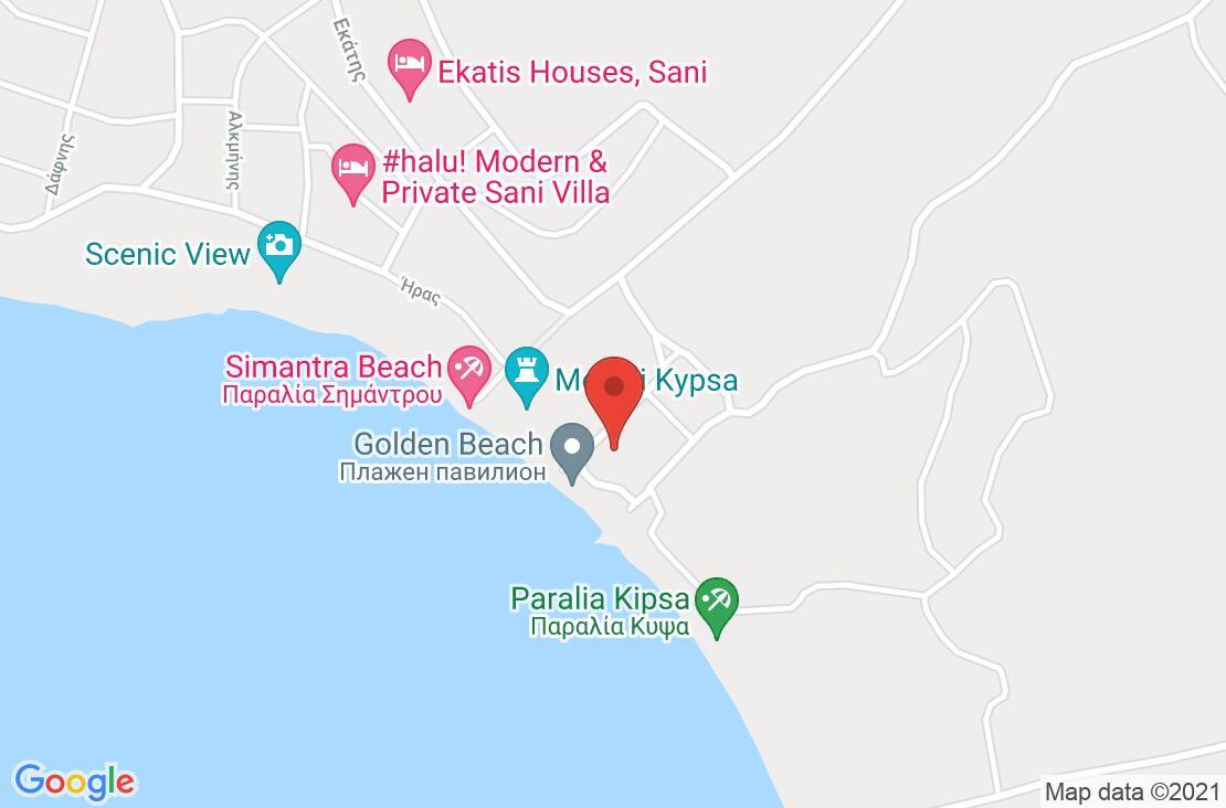 Разположение на Simantro Beach Hotel на картата