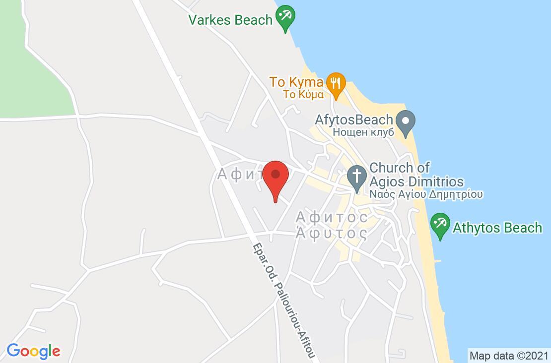 Разположение на Stratos Hotel на картата