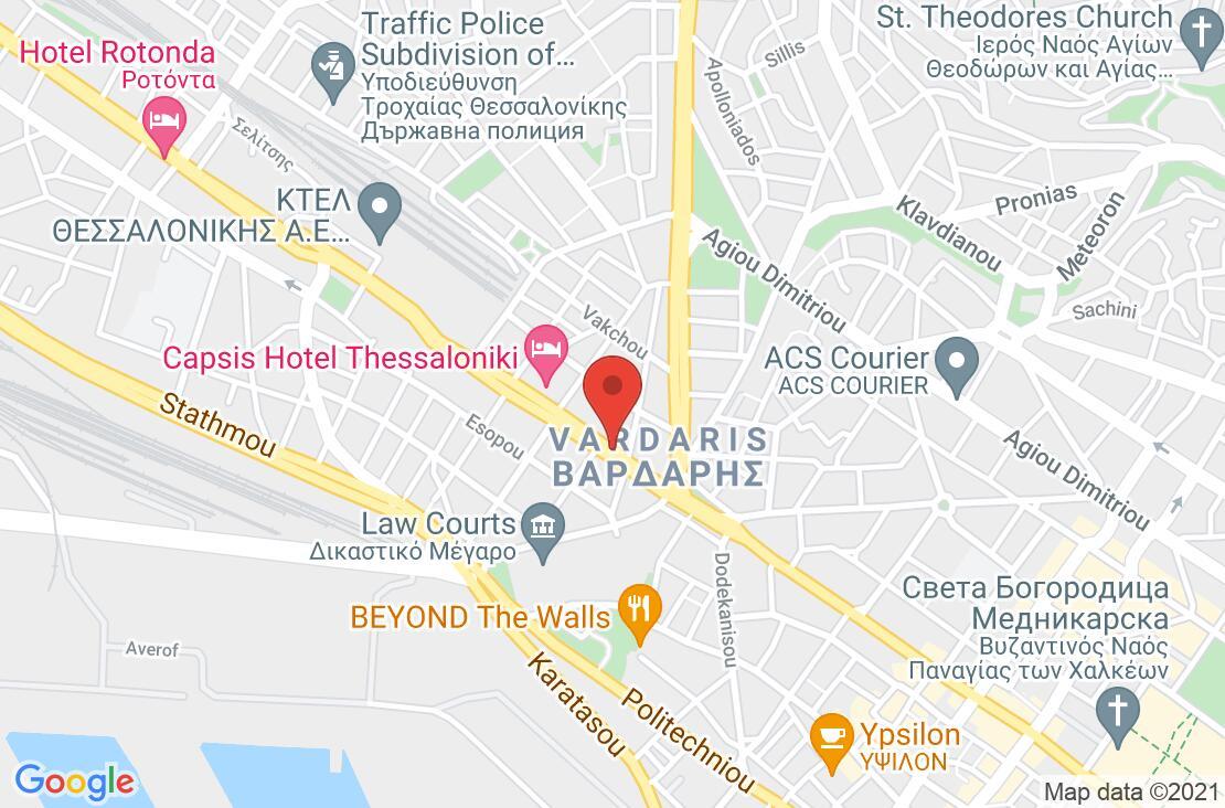 Разположение на Holiday Inn Thessaloniki на картата