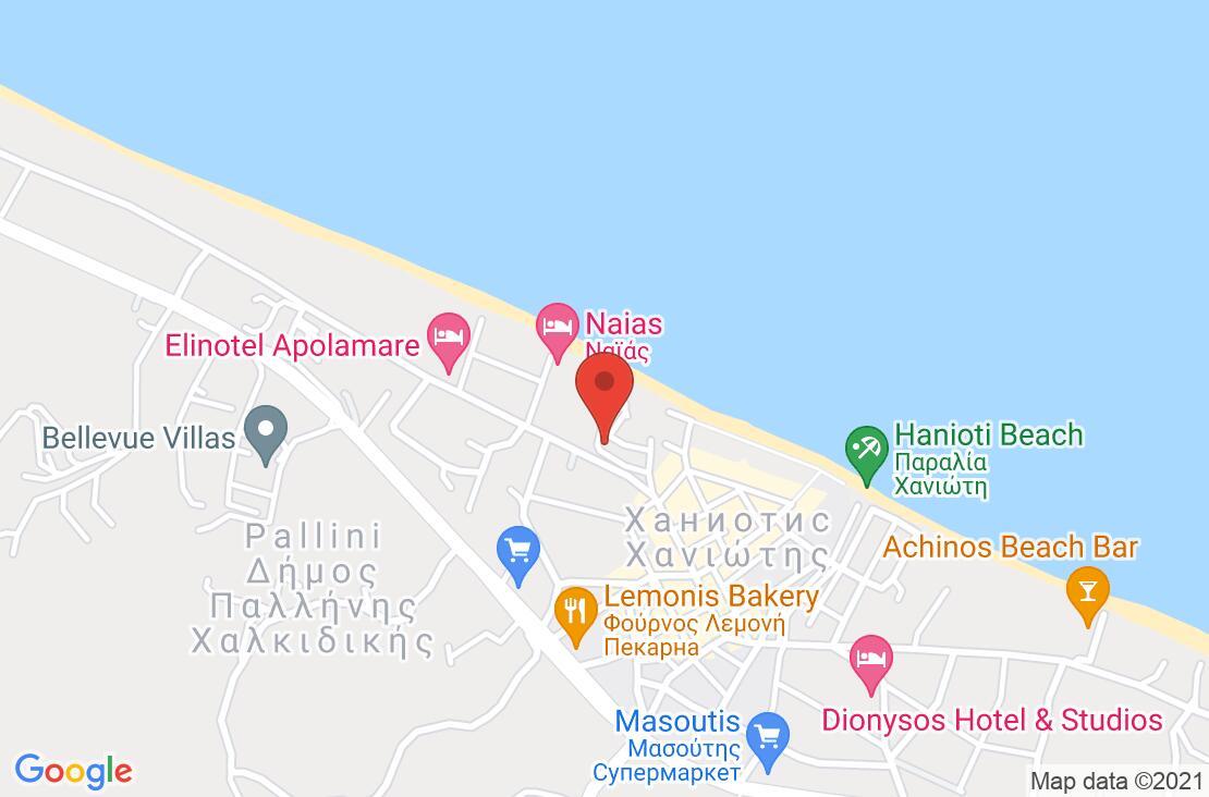 Разположение на Sousouras Hotel на картата