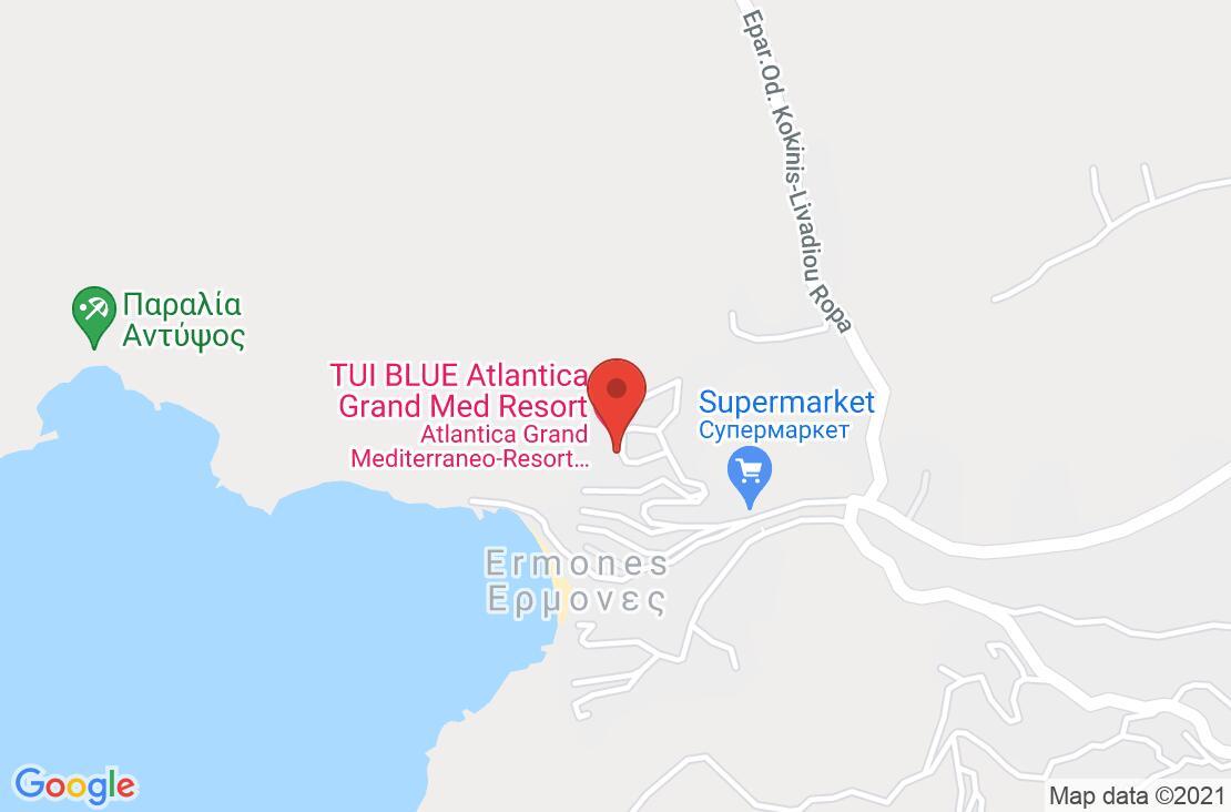 Разположение на Atlantica Grand Mediterraneo Resort & Spa на картата