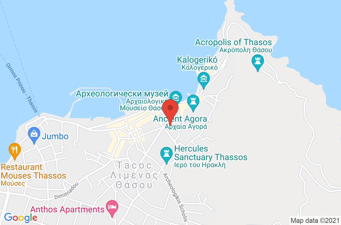 Разположение на Philoxenia Inn на картата