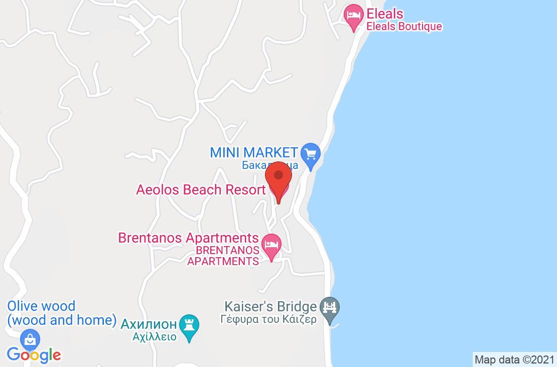 Разположение на Aeolos Beach Resort на картата