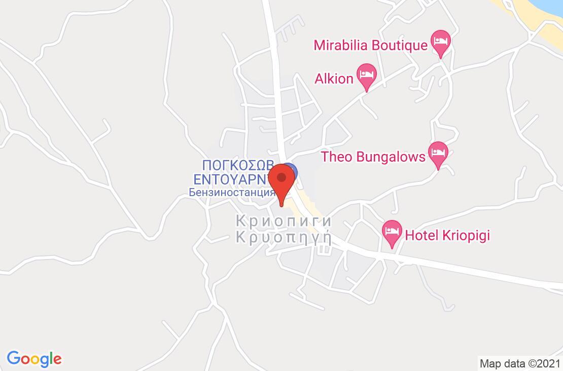 Разположение на Alkion Hotel на картата