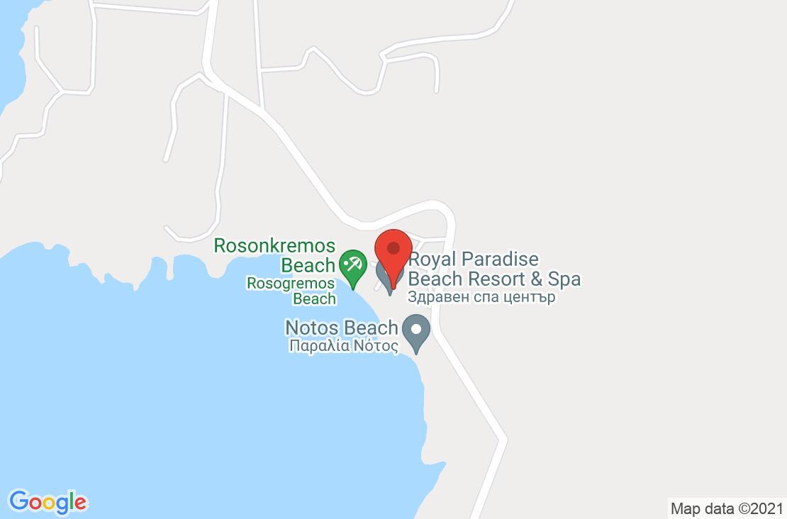 Разположение на Royal Paradise на картата