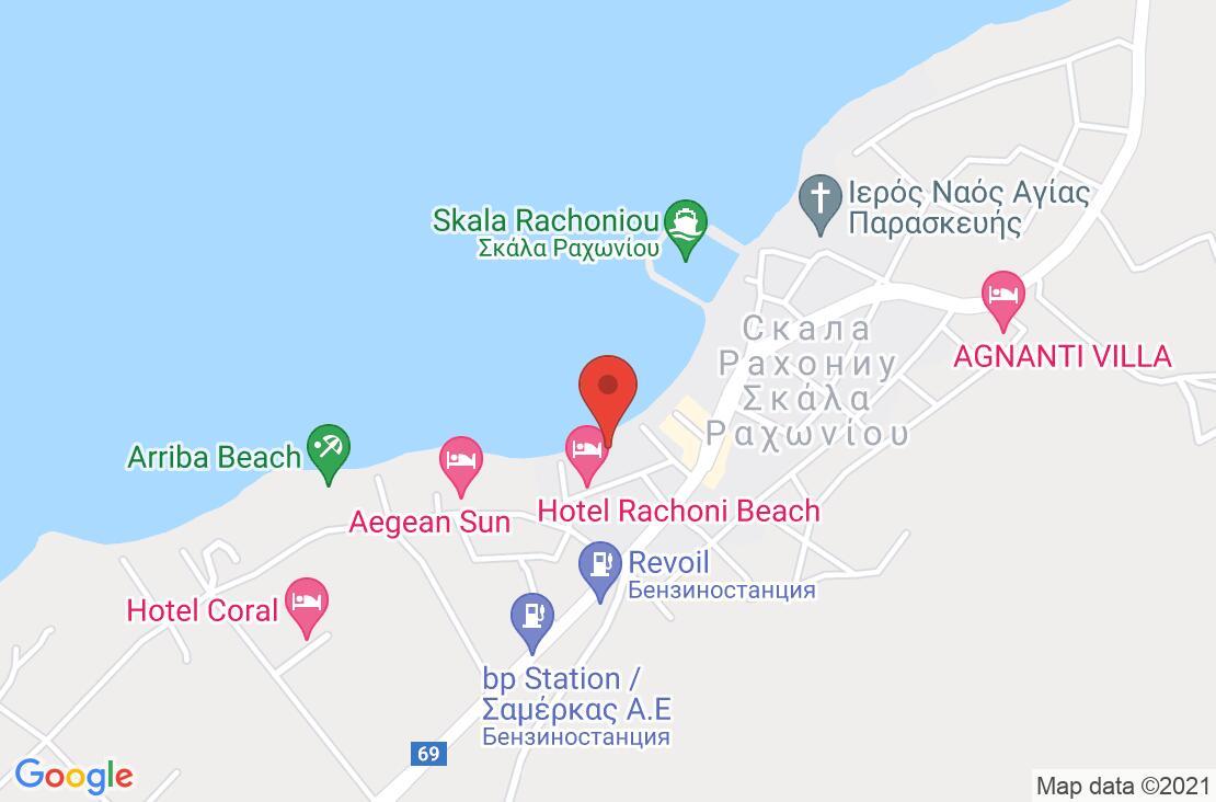 Разположение на Sunrise Beach - Thassos на картата