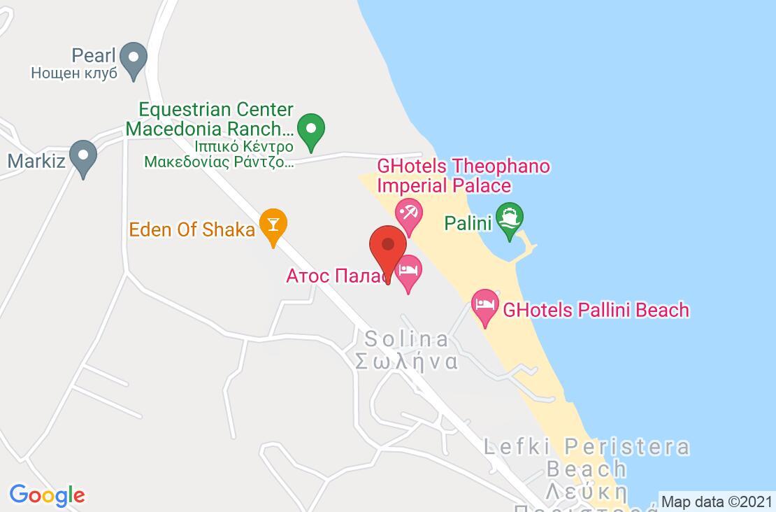 Разположение на Athos Palace Hotel на картата