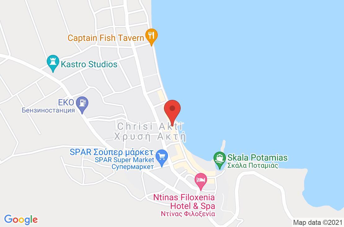 Разположение на Blue Sea Beach Hotel на картата