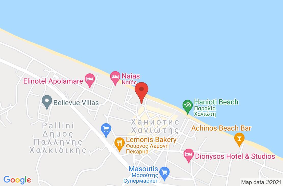 Разположение на Hanioti Grand Hotel на картата