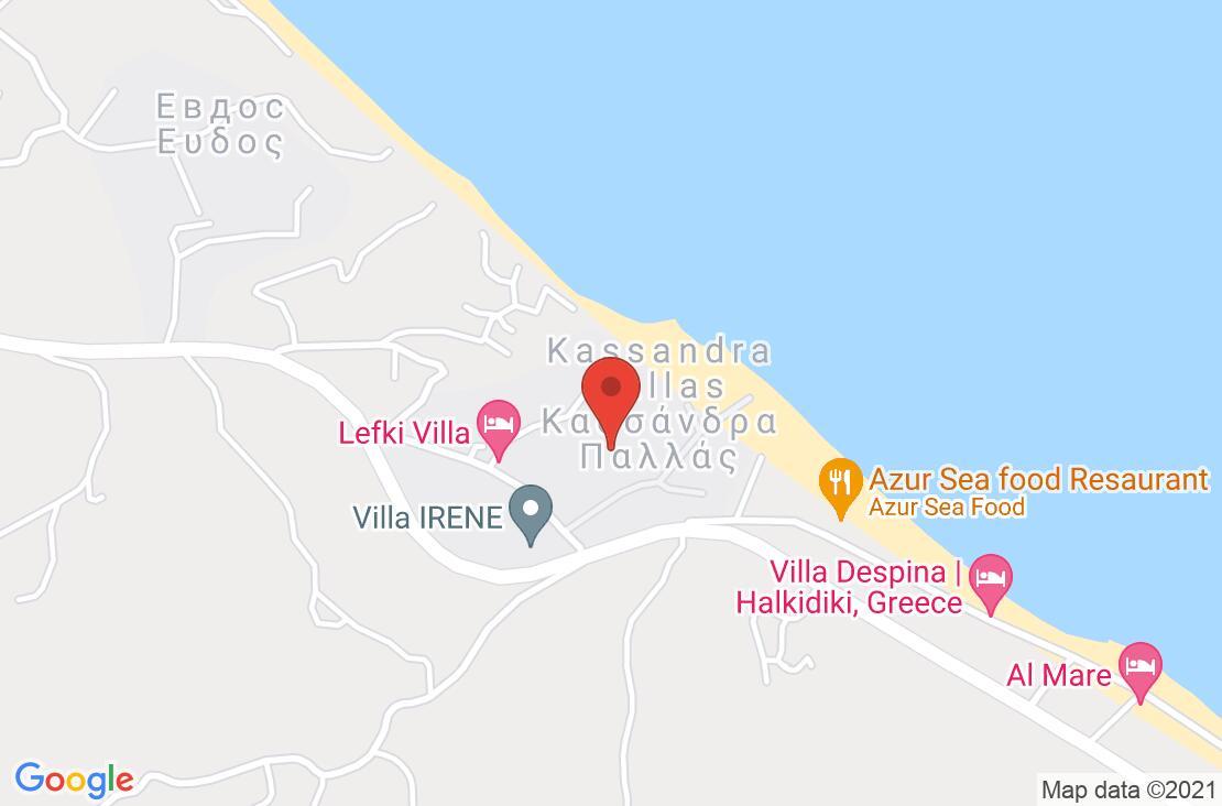 Разположение на Kassandra Palace Hotel & Spa на картата