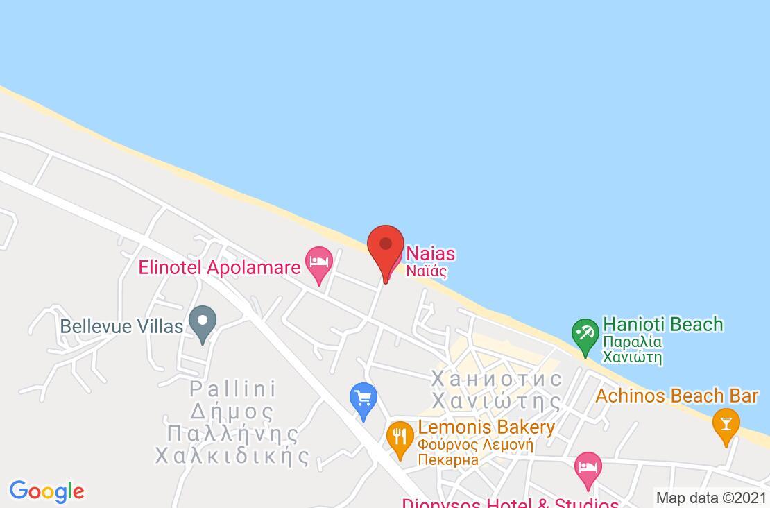 Разположение на Naias Hotel - Chanioti на картата