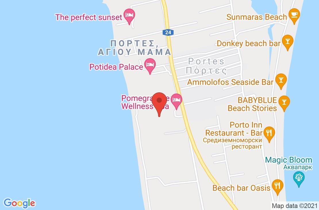 Разположение на Pomegranate Wellness Spa Hotel на картата