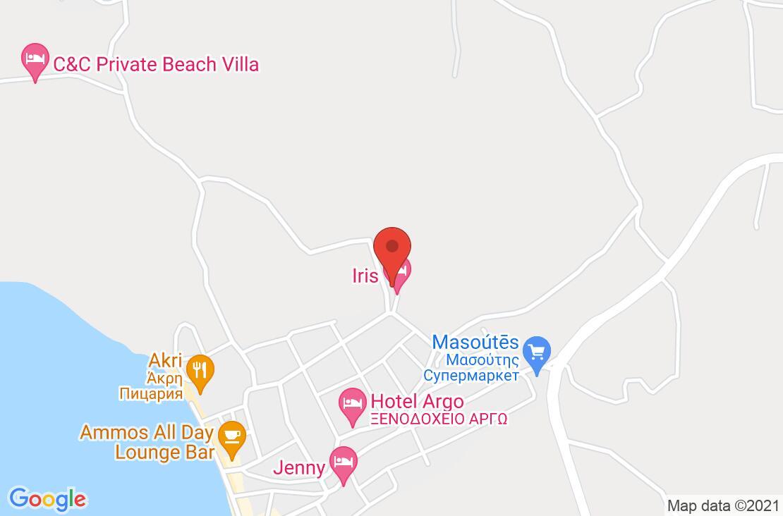 Разположение на Iris Hotel - Siviri на картата