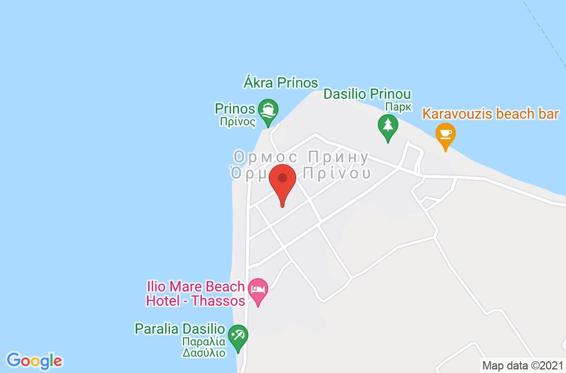 Разположение на Kazaviti Hotel на картата