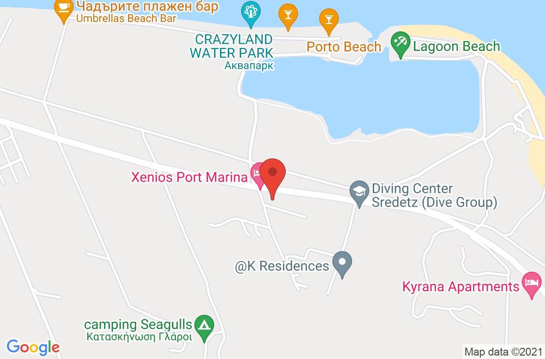Разположение на Port Marina Hotel на картата