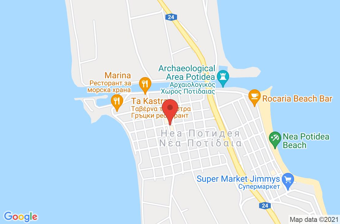 Разположение на Portes Beach Hotel на картата
