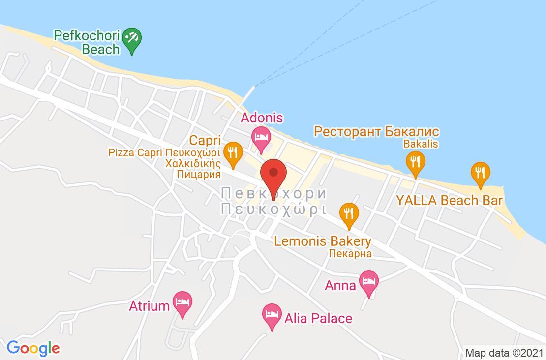 Разположение на Atrium Hotel - Chalkidiki на картата