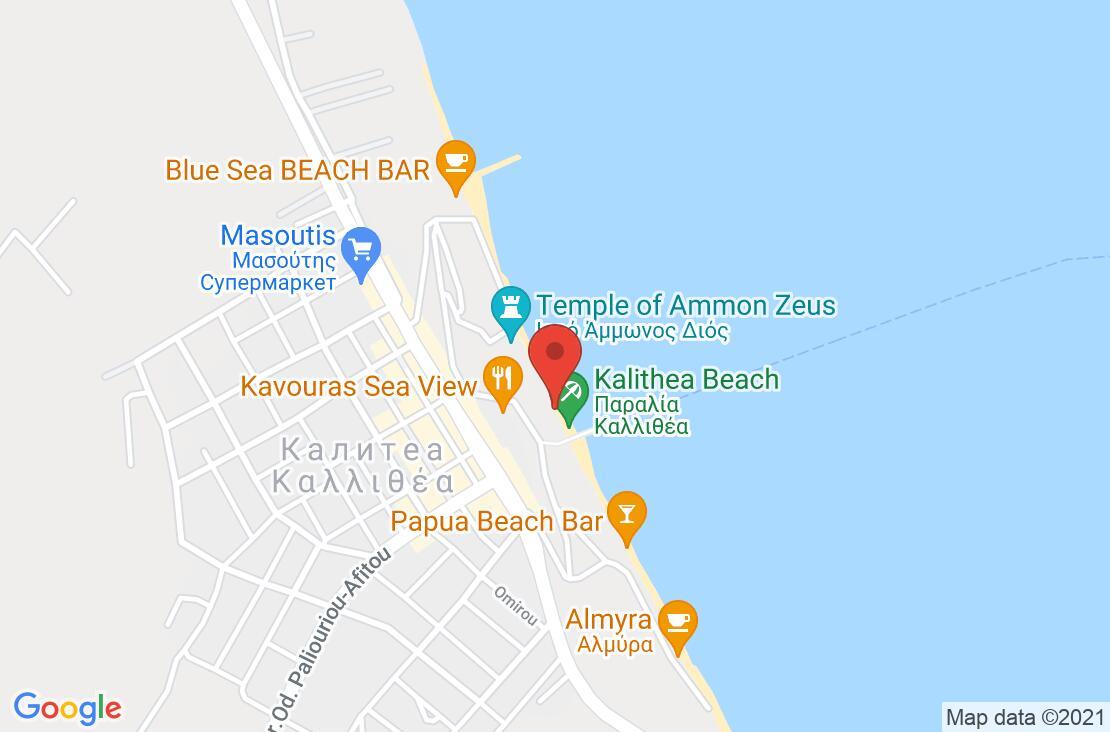 Разположение на Ammon Zeus Hotel на картата