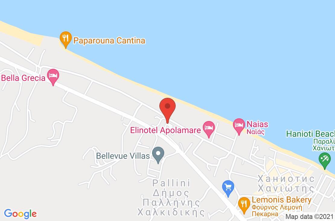 Разположение на Elinotel Apolamare на картата
