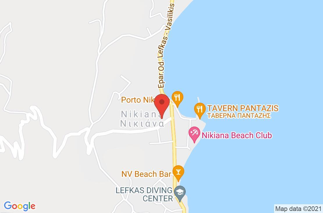 Разположение на Eleana Hotel - Lefkada на картата