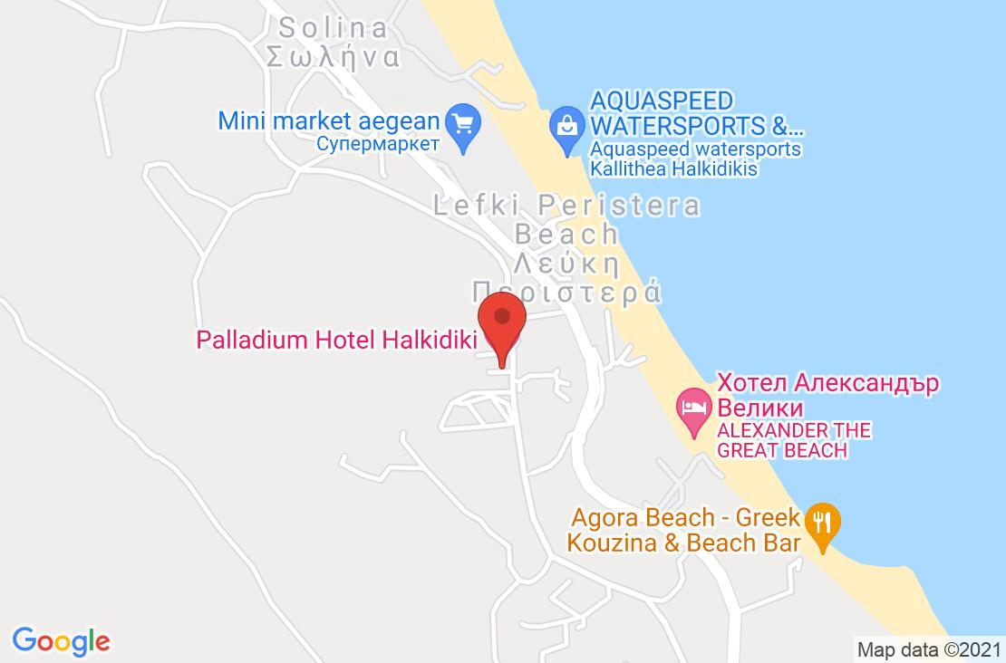 Разположение на Palladium Hotel на картата