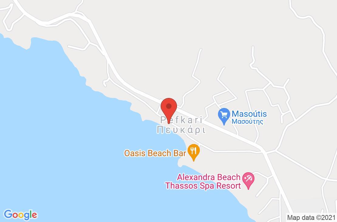 Разположение на Akti - Thassos на картата
