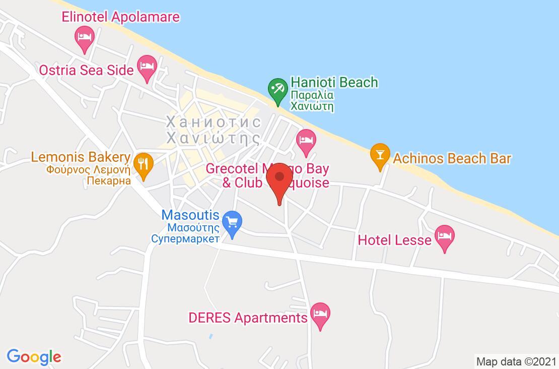 Разположение на Dionyssos Hotel & Apartments на картата