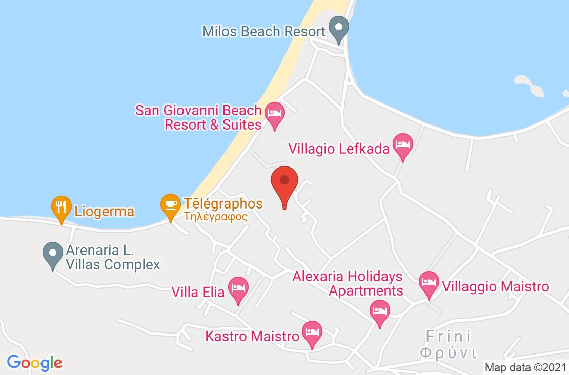 Разположение на Kastro Maistro на картата