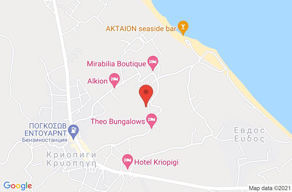 Разположение на Kassandra Bay Hotel на картата