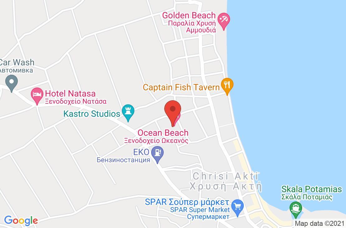Разположение на Ocean Beach Hotel на картата
