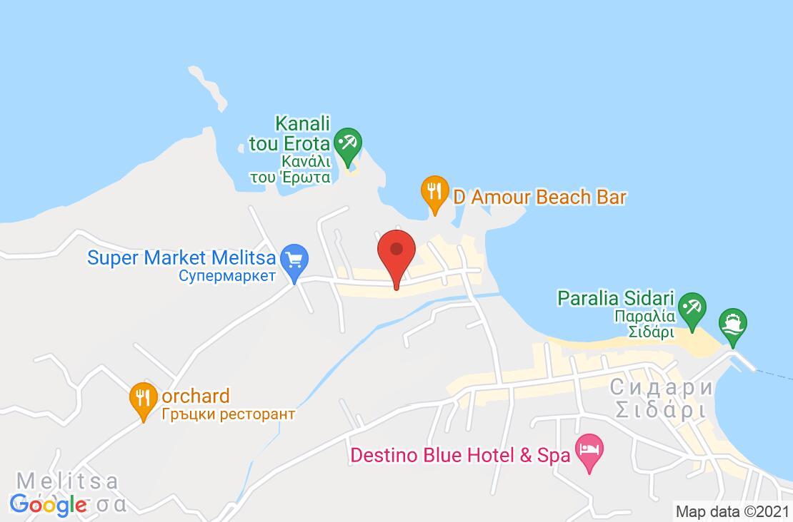 Разположение на Angelina Hotel на картата