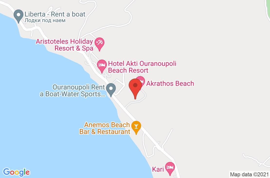 Разположение на Akrathos Beach Hotel на картата