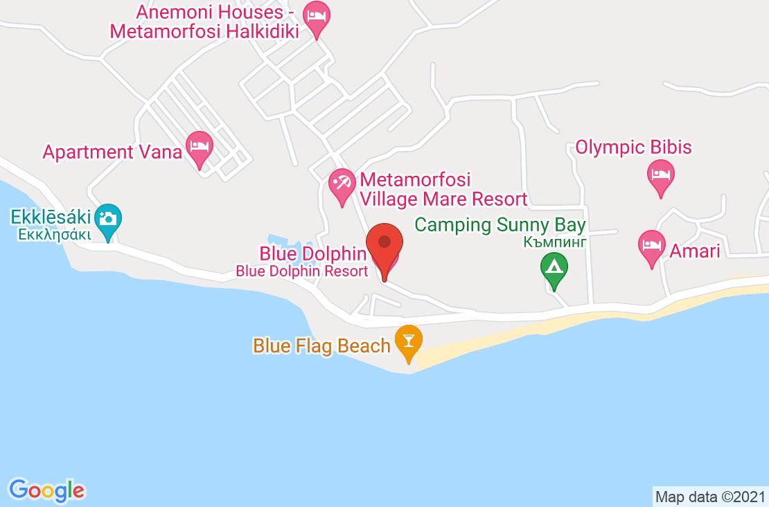 Разположение на Blue Dolphin Hotel на картата
