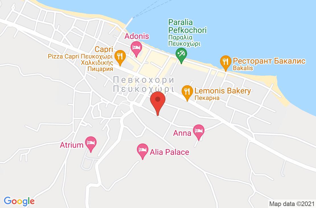 Разположение на Apanemia Hotel на картата