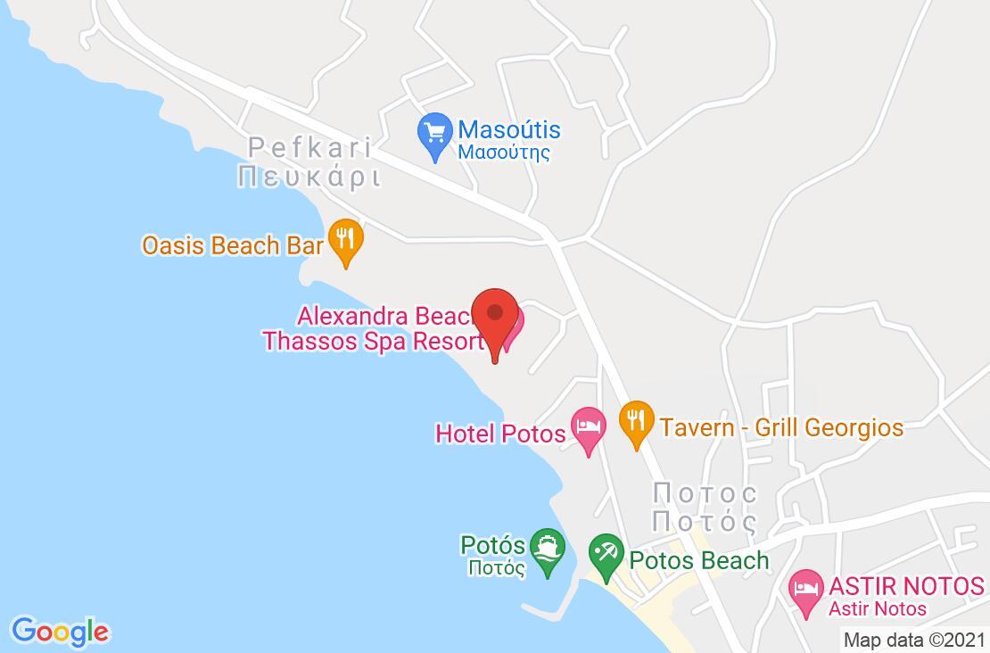 Разположение на Alexandra Beach Spa Resort Thassos на картата