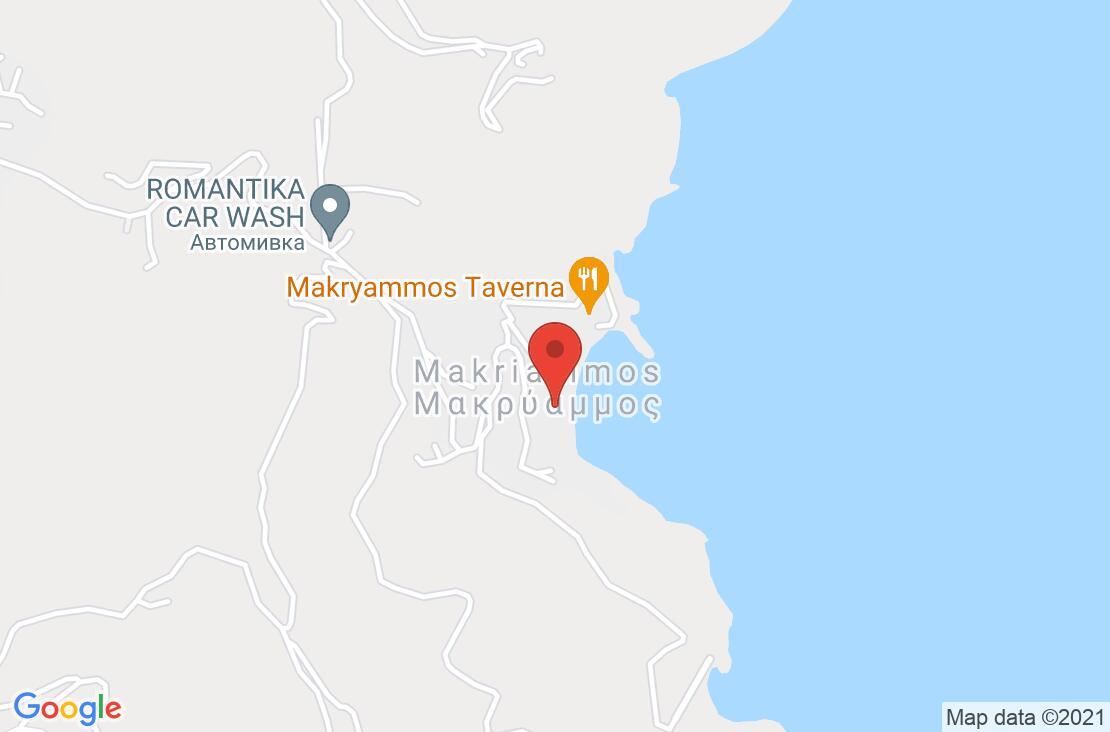 Разположение на Makryammos Bungalows на картата