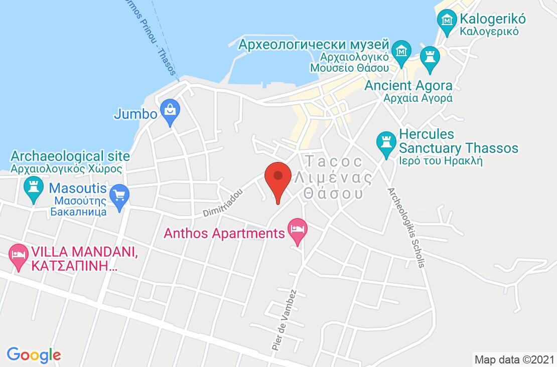Разположение на Pegasus Hotel на картата