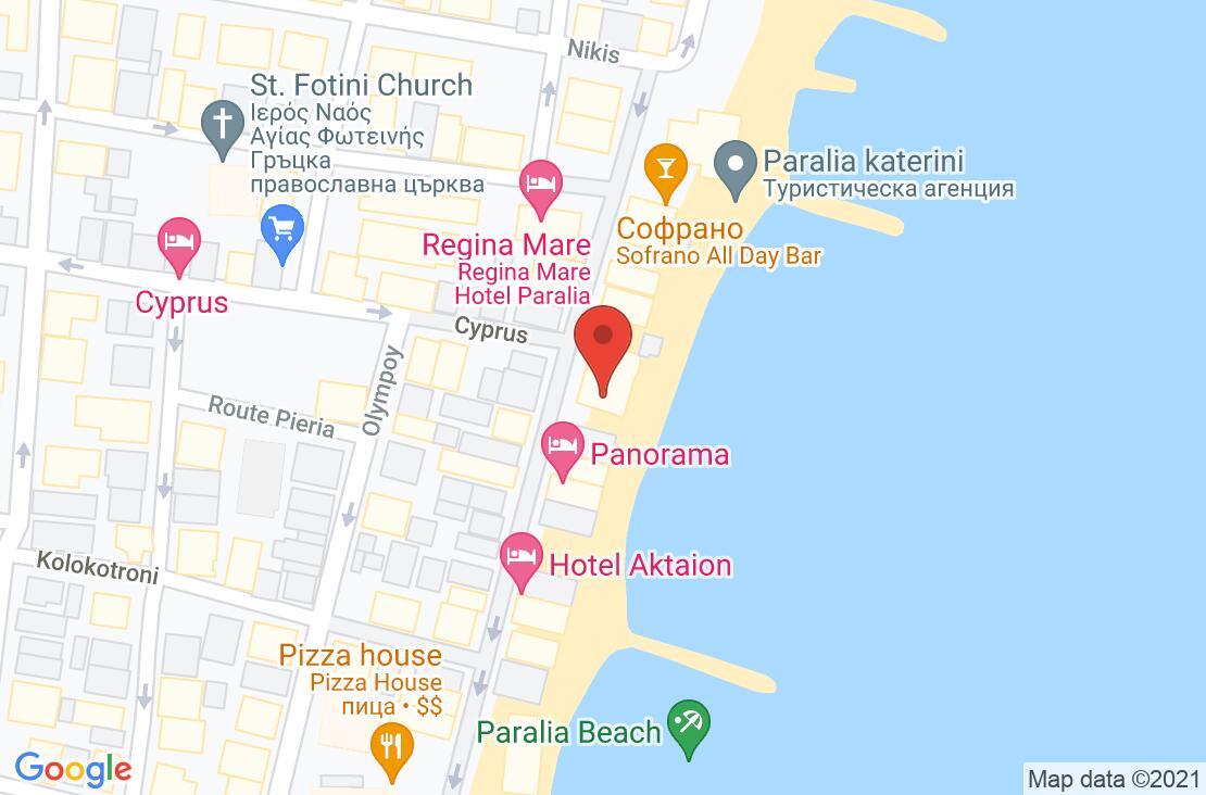 Разположение на Kymata Hotel на картата