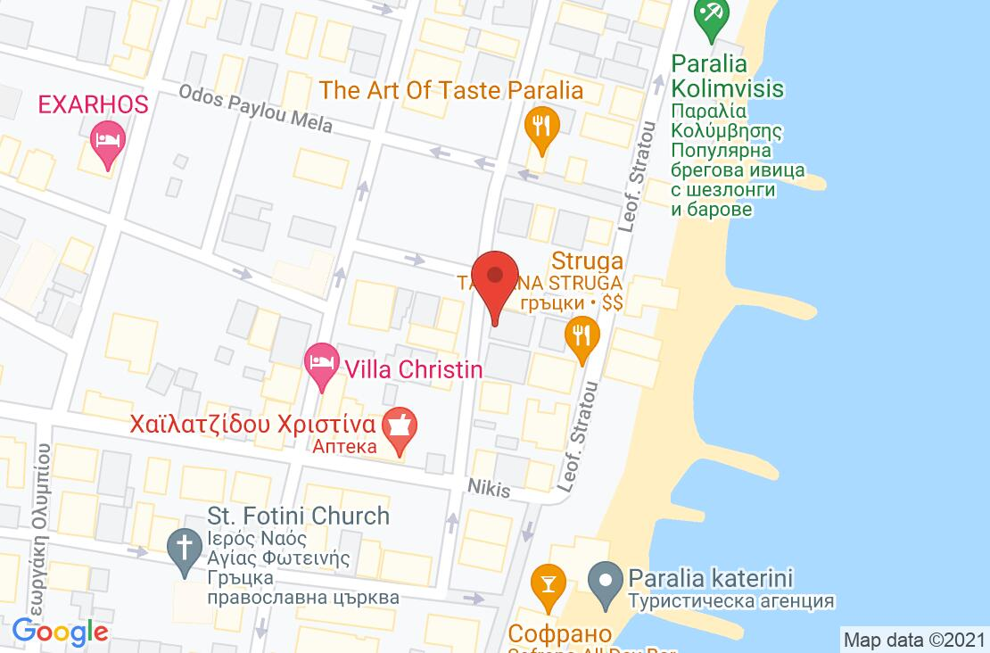 Разположение на Akropol Hotel на картата