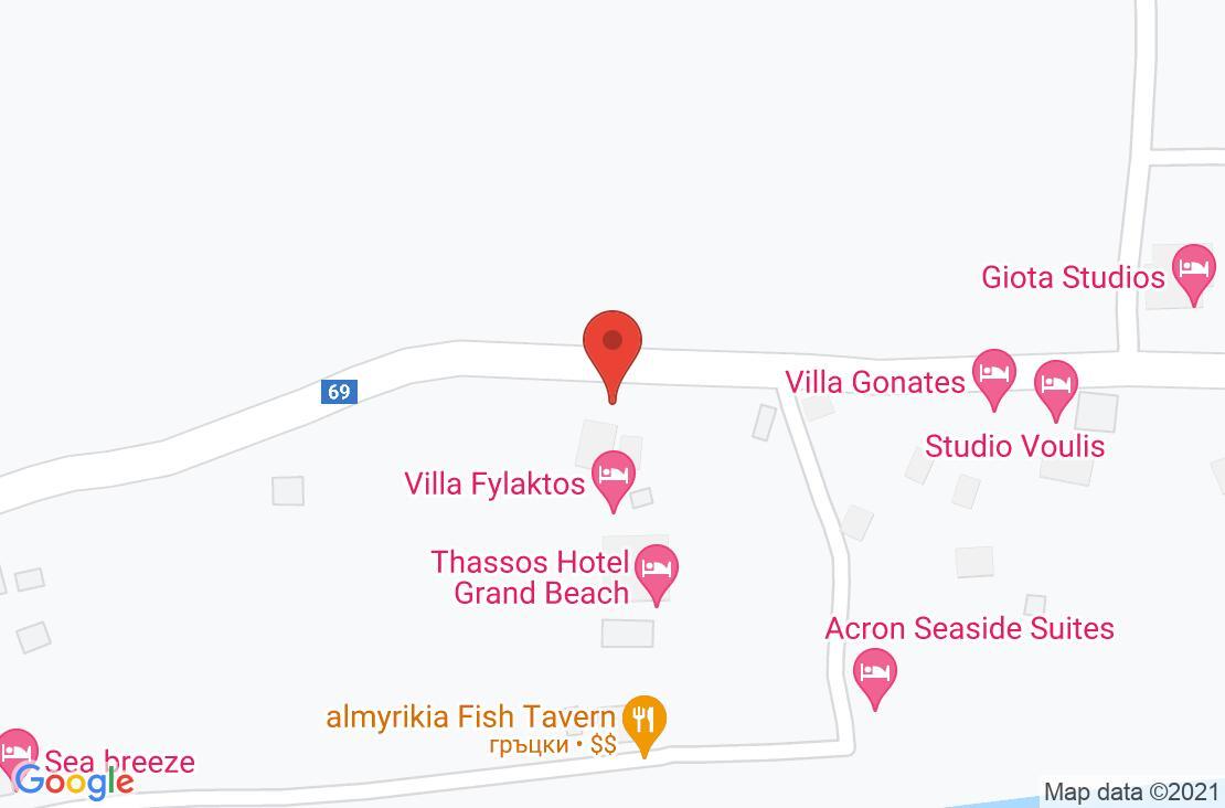 Разположение на Villa Fylaktos на картата