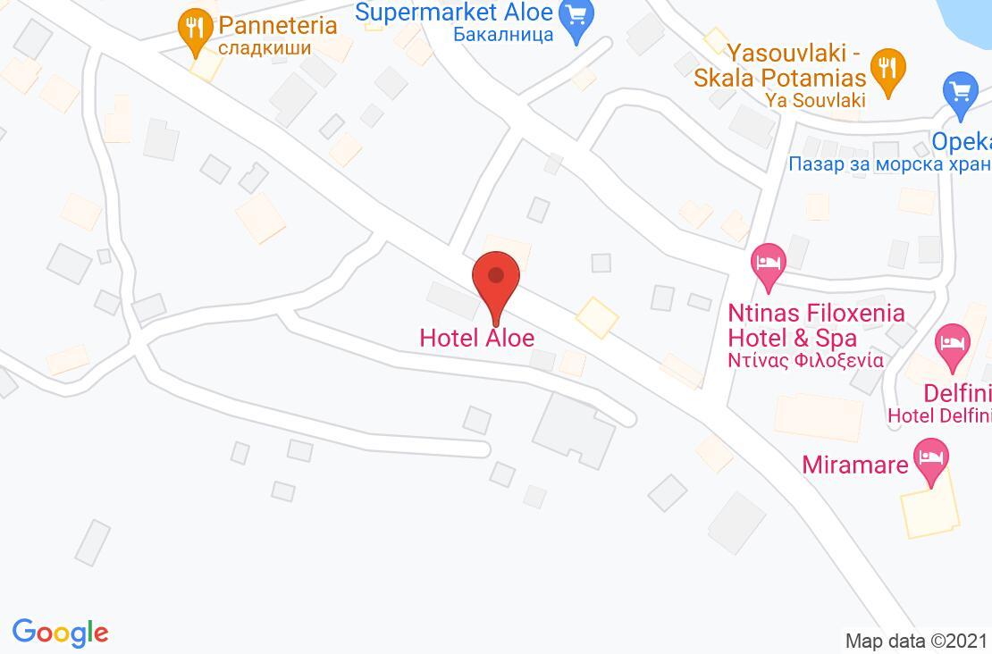 Разположение на Aloe Hotel - Thassos на картата