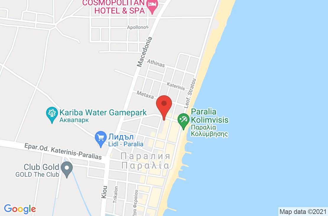 Разположение на GL Hotel на картата