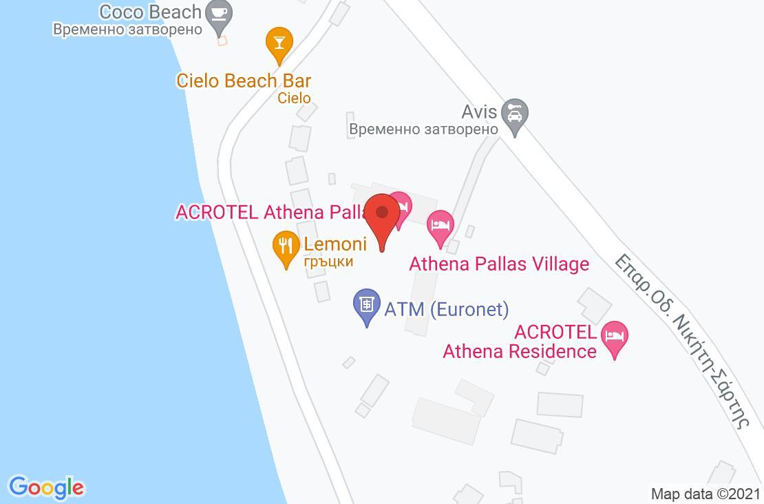 Разположение на Acrotel Athena Residence на картата