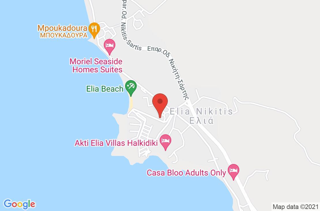 Разположение на Anthemus Sea Beach Hotel & Spa на картата