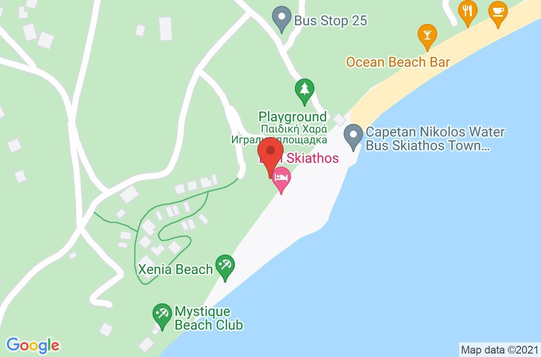 Разположение на Elivi Skiathos на картата